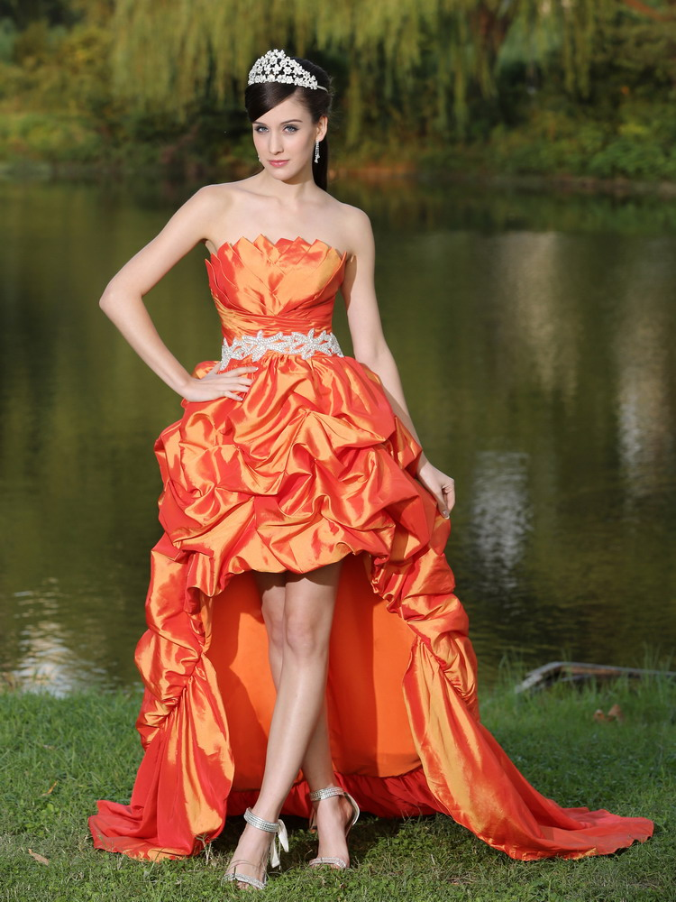 Orange Red Prom Dresses