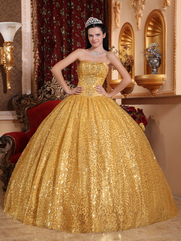 Sequin Quinceanera Dresses