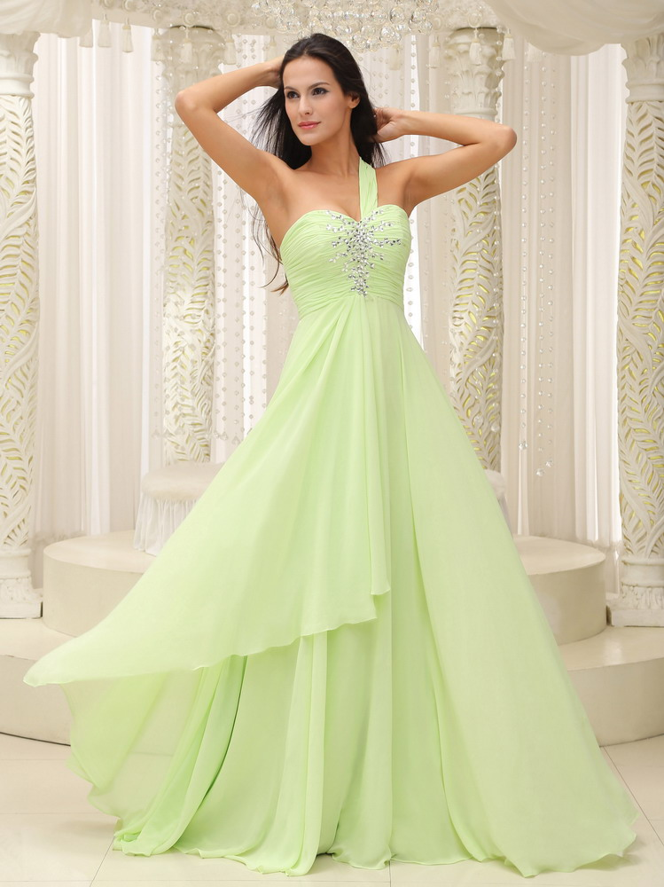Yellow Green Prom Dresses