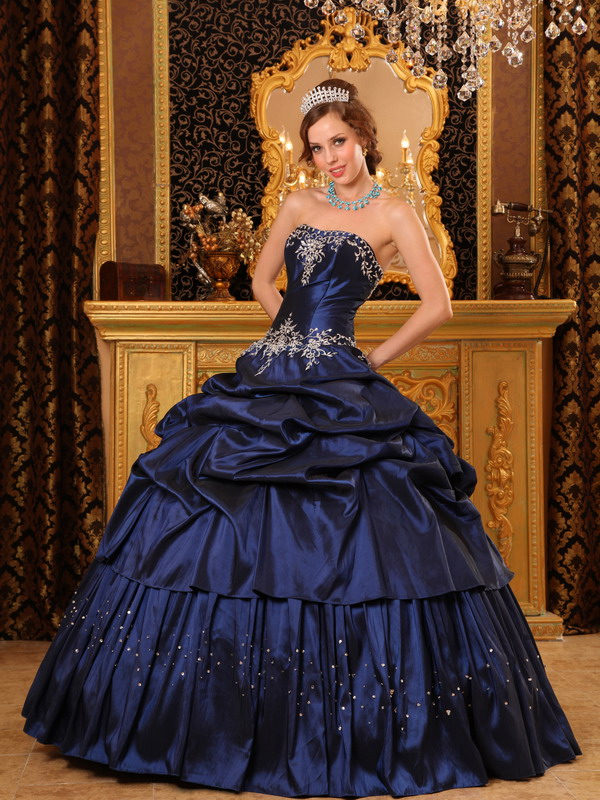 Navy Blue Quinceanera Dresses
