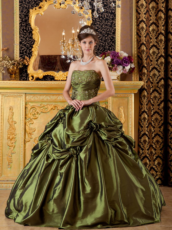 Olive Green Quinceanera Dresses