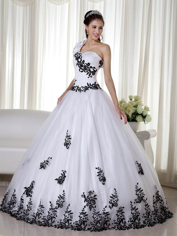 White and Black Quinceanera Dresses