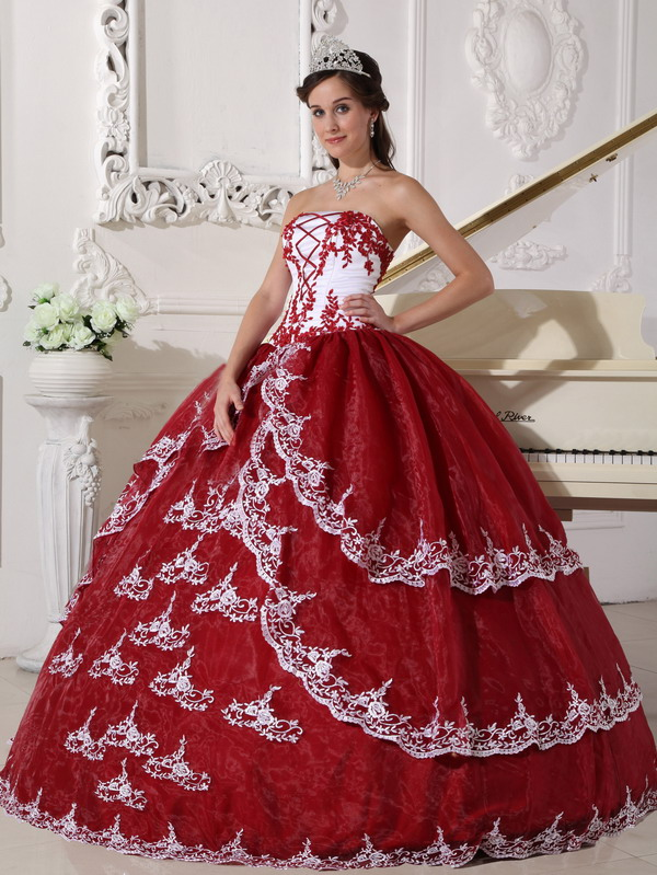 Wine Red Quinceanera Dresses