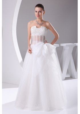 Elegant Column Strapless Lace-up Beading 2013 Wedding Dress