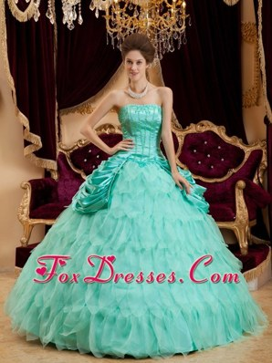 Ruffles Embroidery and Beading Sweetheart Quinceanera Dress