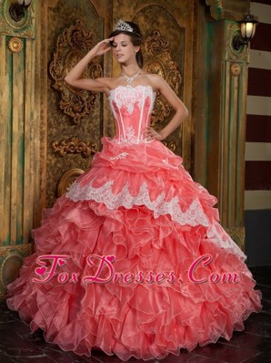 Waltermelon 2013 Ball Gown Strapless Ruffle Quinceanera Dress