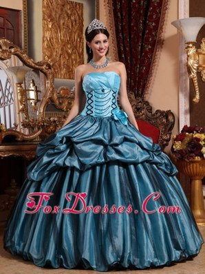 2013 Blue Ball Gown Quinceanera Dress On Sale
