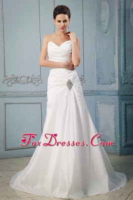 Princess Sweetheart Appliques Ruch Wedding Dress 2013