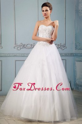 Pretty A-line Sweetheart Appliques 2013 Wedding Dress