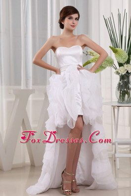 High-low Sweetheart Ruffles Wedding Dress For 2013