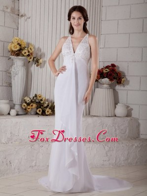 Mermaid V-neck Wedding Dress 2013 Impression Back