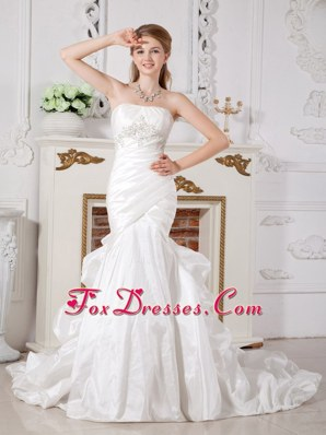 Mermaid Wedding Dress Court Train with Pick-ups