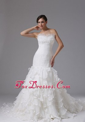 Mermaid Wedding Dress 2013 Sweetheart Ruched Ruffle layered