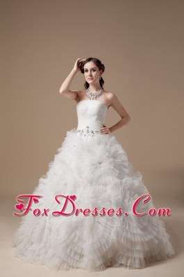 Ball Gown 2013 Beading flowers decorate Wedding Dress