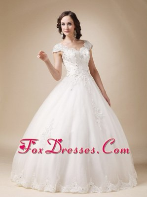 Unique Ball Gown Wedding Dress Sweetheart Beading Straps