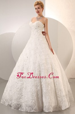 Rolling Flowers Beading Wedding Dress 2013 A-line Sweetheart
