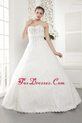 Lace Beading 2013 New Wedding Dress A-line Sweetheart
