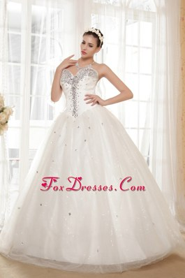 Wedding Dress For 2013 Tulle Taffeta Beading Sweetheart