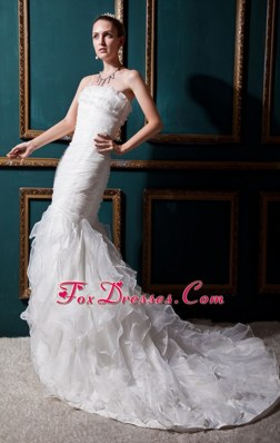 Strapless Court 2013 Popular Mermaid Wedding Dress