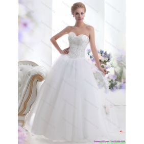 2015 Popular Sweetheart A Line Wedding Dress with Beading