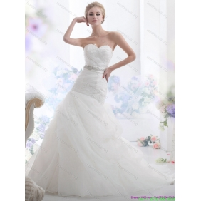 Elegant Sweetheart Wedding Dress with Beading