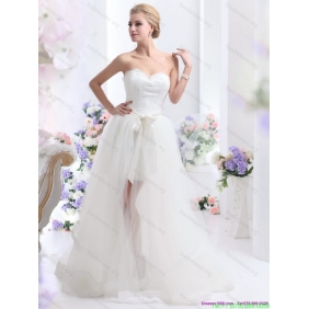 2015 New Arrival Sweetheart Wedding Dress with Lace and Sash