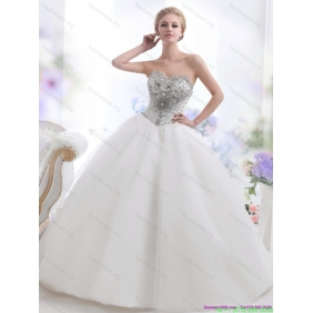 New Arrival 2015 Beading and Appliques Wedding Dresses