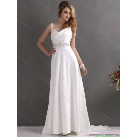 New Arrival Straps Wedding Dress with Paillette for 2015