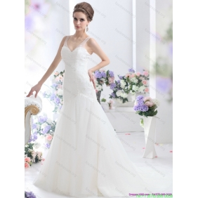 2015 Affordable A Line Wedding Dress with Lace