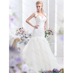2015 Affordable Sweetheart Wedding Dress with Lace