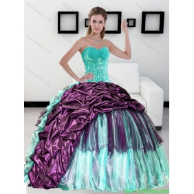 2015 DesignerSweetheart Quinceanera Dress with Pick up and Ruffles