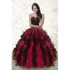 Couture Multi Color 2015 Quinceanera Dresses with Sweetheart