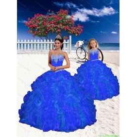New Style Beading and Ruffles Princesita with Quinceanera Dress in Royal Blue