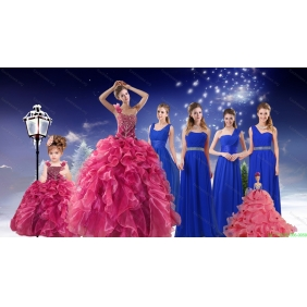 Beading One Shoulder Sweet 16 Dress and Elegant Ruching Long Prom Dresses and Ruffles Beading Straps Little Girl Dress