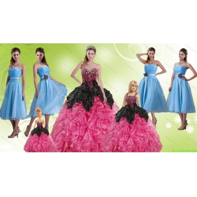 Multi Color Sweetheart Quinceanera Gown and Strapless Hand Made Flower Prom Dresses and  Ruffles and Beading Little Girl Dress