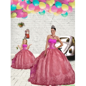 Pretty Beading and Embroidery Princesita With Quinceanera Dress in Rust Red for 2015