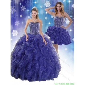 The Most Popular Royal Blue Quinceanera Dresses with Beading and Ruffles