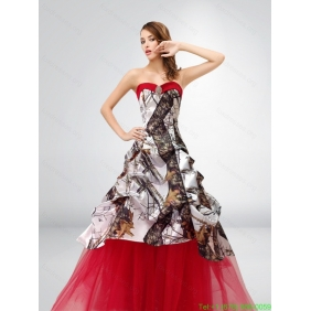 Popular A Line Strapless Exquisite 2015 Spring Camo Wedding Dresses
