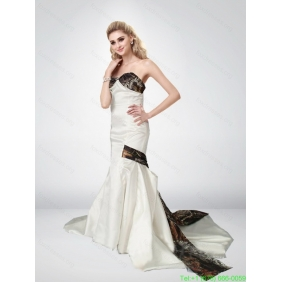 Popular Mermaid Sweetheart Multi Color Camo Wedding Dresses