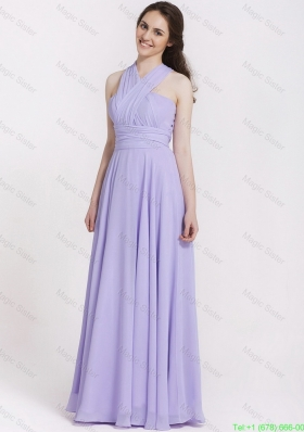 2016 Summer Beautiful Ruching Lavender Prom Dresses in Lavender