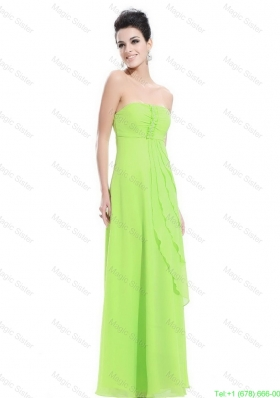 2016 New Arrivals Strapless Beaded Prom Dresses in Spring Green