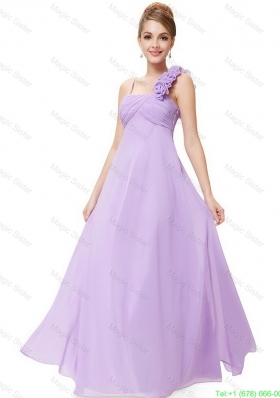 2016 New Style Straps Lavender Prom Dresses with Ruching