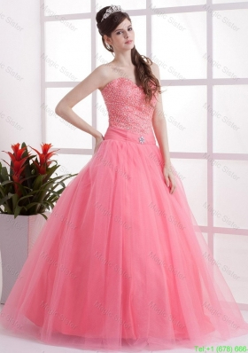 2016 New Arrivals A Line Sweetheart Prom Dresses in Watermelon