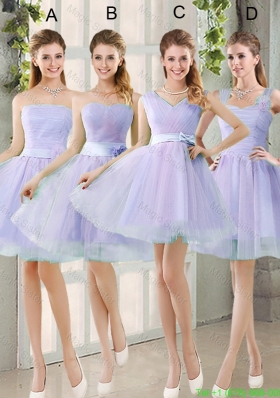2016 Spring A Line Short Bridesmaid Dresses with Belt