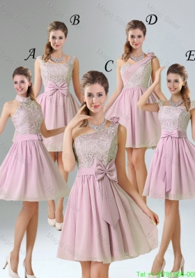 2016 Summer A Line Lace Bridesmaid Dresses with Hand Made Flower