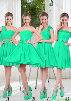 Turquoise Short Bridesmaid Dresses in Fall