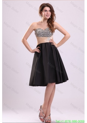 Discount A-line Sweetheart Knee-length Beading Taffeta Cocktail Dress