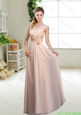 Beautiful Hand Made Flowers Damas Dresses with Column