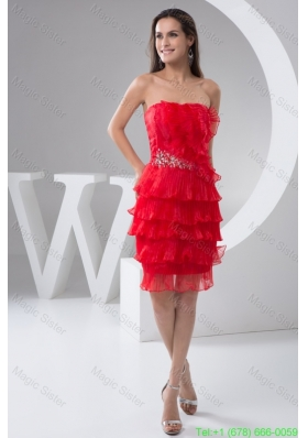 Beading and Pleated Layers Accent Mini Length Prom Celebrity Dress