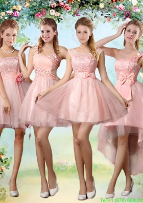 Popular A Line Pink Dama Dresses with Lace and Appliques